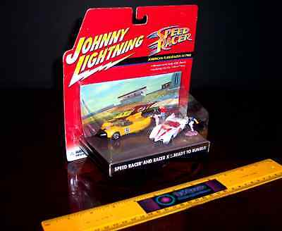 Rare Johnny Lightning Speed Racer Ready To Rumble Mach 5 Racer X 2 Car Set - New