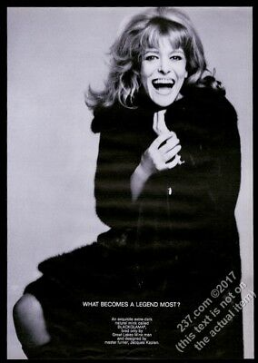 1968 Melina Mercouri photo by Richard Avedon Blackglama fashion vintage print ad