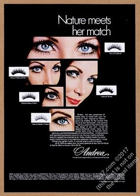 1969 Andrea Eyelashes eye lashes smiling woman photo vintage print ad