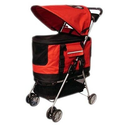 New bestPet Red Ultimate 4 In 1 Pet Stroller/Carrier/CarSeat