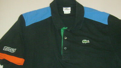 Lacoste Gator Logo Size 9/ 3Xl  Polo  Mens S/s  Colorful  Shirt T7074