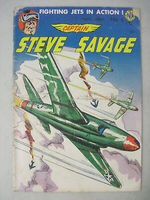 Captain Steve Savage #6 Avon Comics 1954 Fighting Jets In Action!