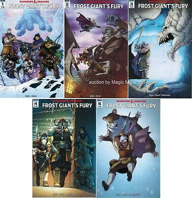 Dungeons & Dragons FROST GIANT'S FURY (5) comic SET #1 2 3 4 5 IDW D&D 1st print