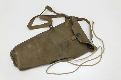 WWII US Paratrooper Training Gas Mask Bag M1A1 Olive green used each E270