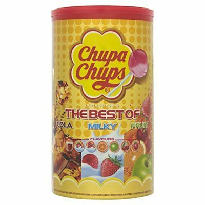 Chupa Chups Tube The Best of Lollipops, 100-Piece