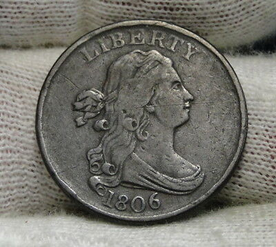 1806 Draped Bust Half Cent - Nice Coin, Free Shipping  (6543)