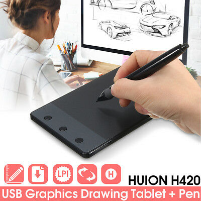 H420 Huion Pro Pad Drawing Writing Graphics Digital Pen USB Art Tablet Board Mat