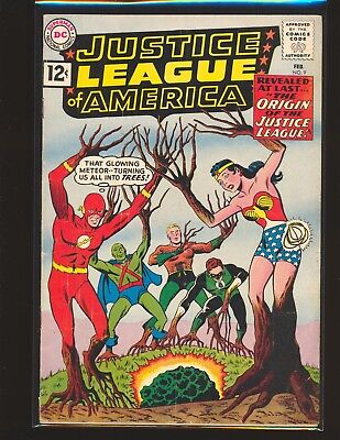 Justice League of America # 9 G/VG Cond. subscription crease