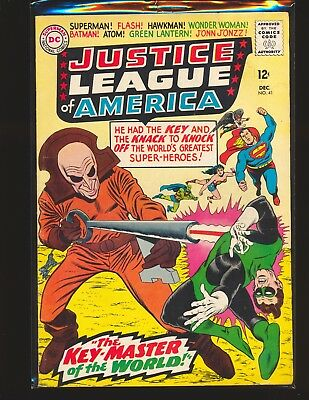 Justice League of America # 41 - 1st appearance The Key VG Cond. water damage