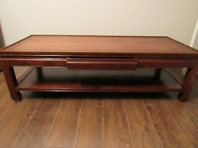 Vintage Chinese Solid Rosewood Coffee Table