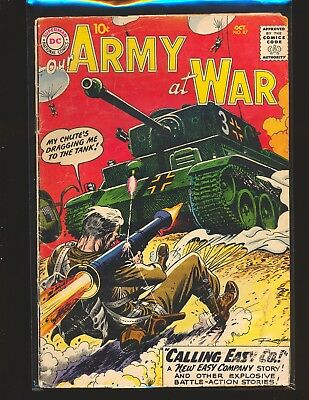 Our Army At War # 87 Good Cond. water damage