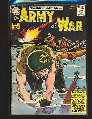 Our Army At War # 107 Good Cond. water damage subscription crease