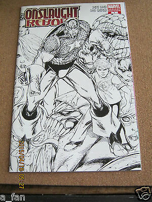 Onslaught Reborn #  1 Sketch Variant January 2007 Marvel Rob Liefeld