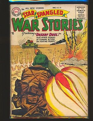Star Spangled War Stories # 40 Good+ Cond. tear on front & back cover