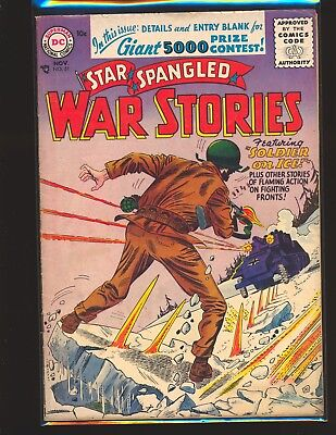 Star Spangled War Stories # 51 VG+ Cond. no top staple