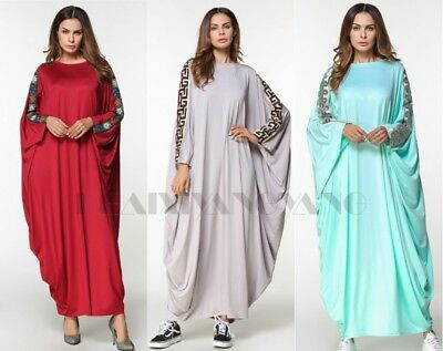 Duabi Style Batwing Abaya Dress Hijab Loose Oversize Maxi Party Long Robes Dress