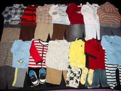 USED BABY BOY CLOTHES 6-9 9 MONTHS TOPS PANTS outfits FALL WINTER CLOTHES LOT
