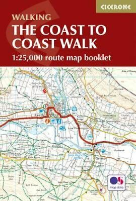 The Coast to Coast Map Booklet by Terry Marsh 9781852849269 (Paperback, 2017)