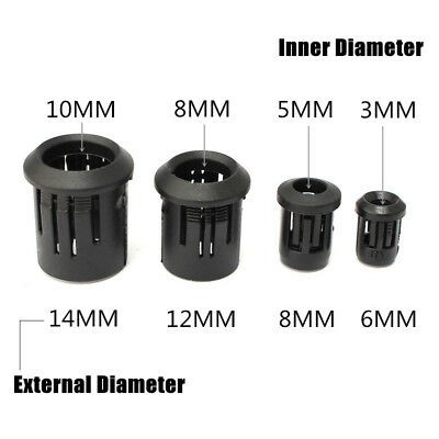 3MM 5MM 8MM 10MM LED Black Plastic Diode Lampshade Holder Clip Bezel Mount Light