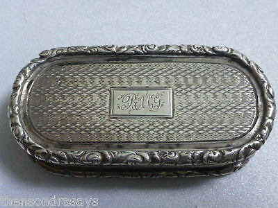 1835 Antique Joseph Willmore of  Birmingham , Sterling  Vinaigrette