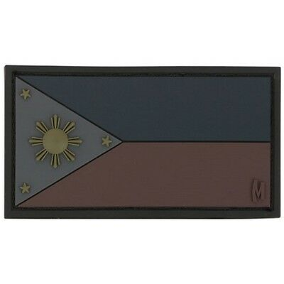 """Maxpedition PVC PATCH:PHILX Philippines Flag Patch 3""""x1.6"""" Stealth"""