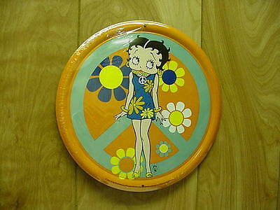 Betty Boop Tin Sign Flower Child Design Orange