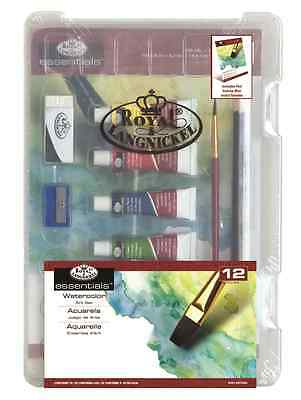 Artist Watercolour Paints Starter Set 5Ml Tubes & Pad In Clear Travel Case 3405