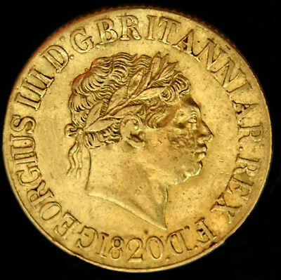 King George The Iii 1820 Gold Sovereign Open 2
