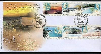 Malaysia 2002 Islands & Beaches - Unaddressed FDC