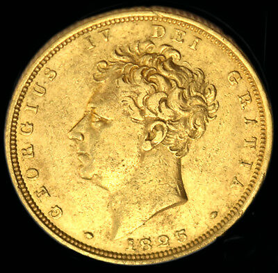KING GEORGE THE IV 1825 GOLD SOVEREIGN Near Extra Fine