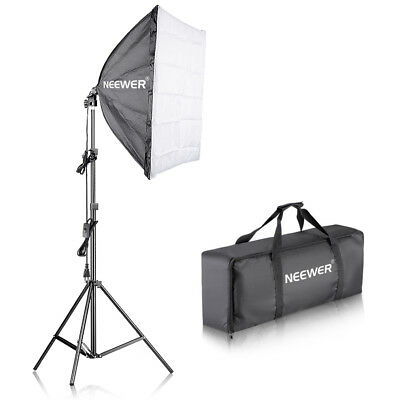 Neewer Kit 60x60cm Softbox & 224cm Light Stand con Bulbo 45W E27 Fluorescente