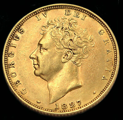 Excellent King George The Iv 1827 Gold Sovereign