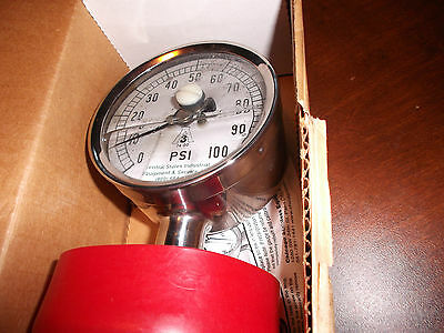 """3 1/2"""" Sani-Flow  Central States Industrial Pressure Gauge,3"""" Tri-Clamp Fitting"""