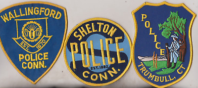 Wallingford & Shelton CT Police patches