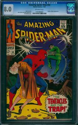 Amazing Spider-Man #  54  The Tentacles and the Trap !  CGC 8.0  scarce book !