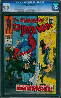Amazing Spider-Man #  59  Brand of the Brainwasher !  CGC 9.0  scarce book !