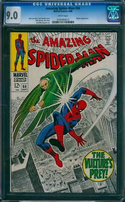 Amazing Spider-Man #  64  The Vulture's Prey !  CGC 9.0  scarce book !