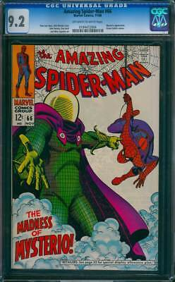 Amazing Spider-Man #  66  The Madness of Mysterio !  CGC 9.2  scarce book !