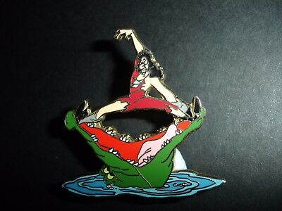 Disney Dlr Tick Tock Crocodile Snacking On Captain Hook Peter Pan Pin