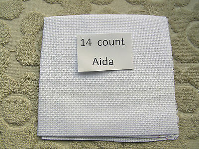 A Piece of White 14 count Cross Stich Fabric,12 inches by 12 inches