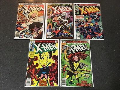 X-Men 131 132 133 134 135 Comic Lot Average Fine Condition