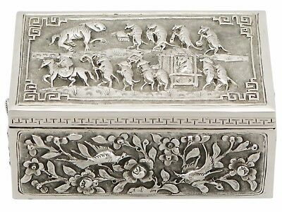 Antique Chinese Export Silver Box - 1850-1899