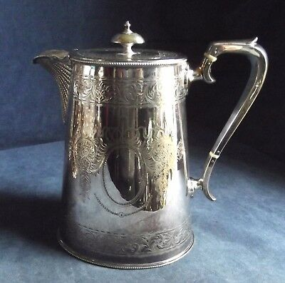 SUPERB Ornate ~ SILVER Plated ~ BULBOUS Water / WINE JUG ~ c1890 by Wm. Harrison
