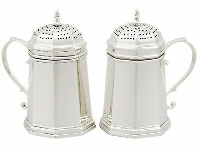 Antique Pair of American Sterling Silver Kitchen Peppers by Tiffany & Co