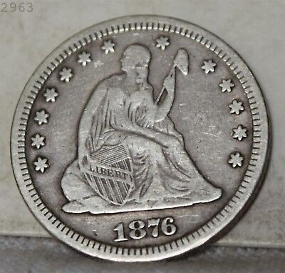"1976-CC Liberty Seated Quarter ""VF"" *Free S/H After 1st Item*"