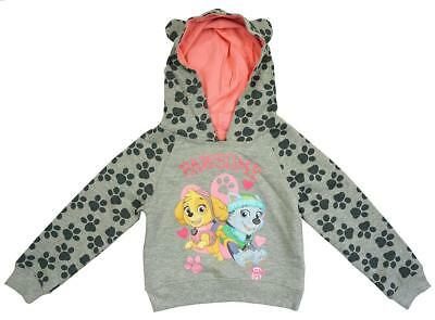 Girls Official Paw Patrol Skye Hoody Sweat Jumper with Ears 12 Months to 6 Years