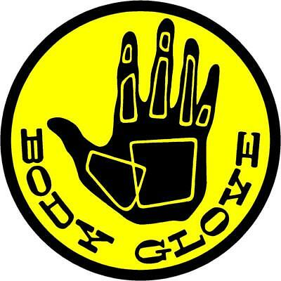 BODY GLOVE SnowSurf-board Decal Sticker Graphic Black And Yellow