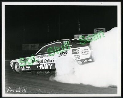 """Vintage drag racing 8"""" x 10"""" glossy photo Tom the Mongoose McEwen Funny Car"""