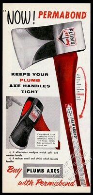1956 Plumb Tools Jet Wing axe photo vintage print ad