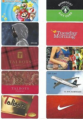 Nice Selection Of 10 Different Gift Cards - T9-22